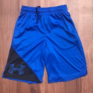 Under Armour Blue Loose Basketball Shorts - M